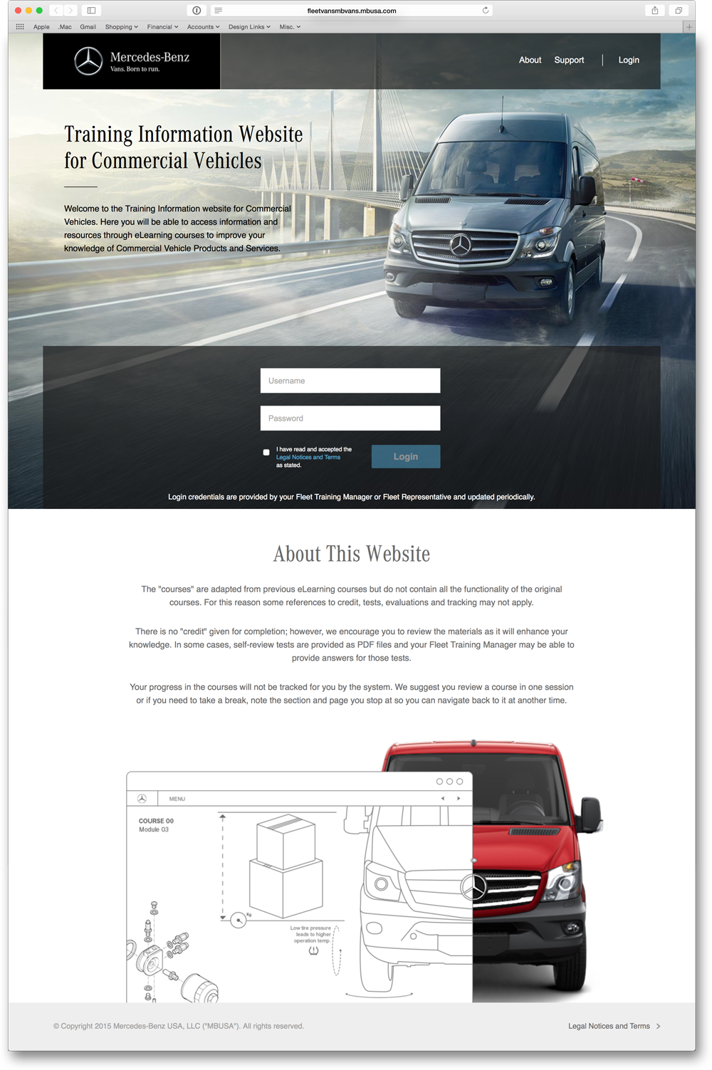 Home Page for Mercedes-Benz Vans
