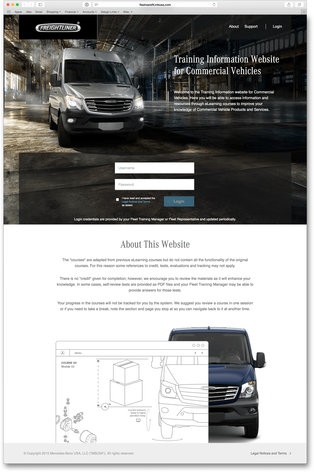 Home Page for Freightliner Vans